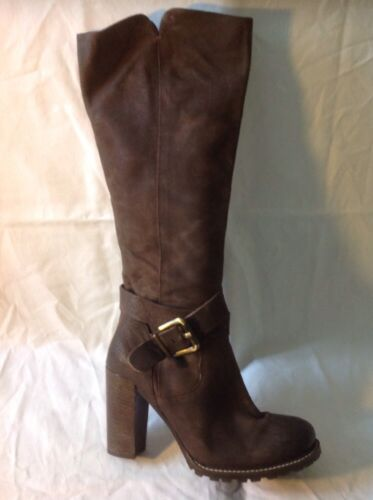 Leather Size High Next Boots Knee Brown 39 wv48qTz