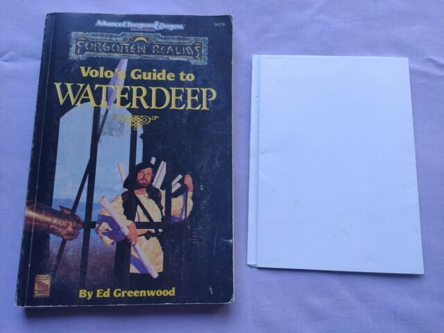 FORGOTTEN REALMS AD&D Volo's guide to WATERDEEP RPG dungeon dragon TSR 1992 MAP