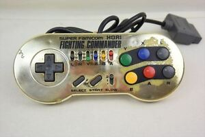 Super-Famicom-Controller-Pad-FIGHTING-COMMANDER-Gold-Hori-Tested-2866