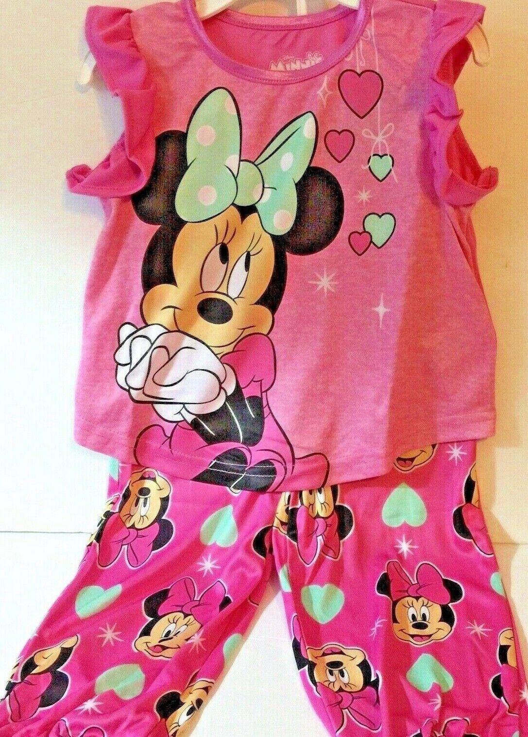 Disney Minnie Mouse Toddler girls pajama set 2T Disney Junior BN10