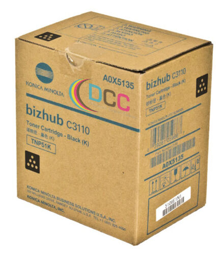 OEM TNP51K BLACK TONER CARTRIDGE A0X5135 FOR BIZHUB C3110