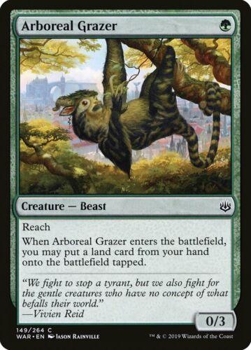 MTG Magic Card 4 x Arboreal Grazer WAR Common Playset #149 Mint