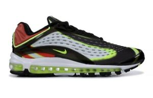 bfa1ed2e7b New Nike Men's Air Max Deluxe Black/Volt-Habanero Red-White Sz 13 ...