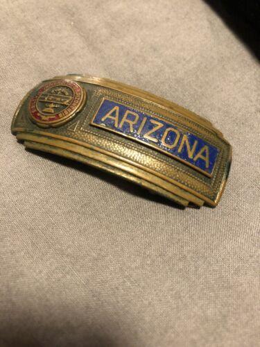 Vintage Jenkins Brass Belt Buckle 30's Arizona