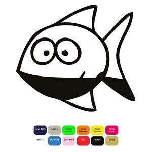 Cartoon-Fish-Iron-On-T-Shirt-Clothes-Heat-Transfer-Vinyl-Sticker-HTV-Decal