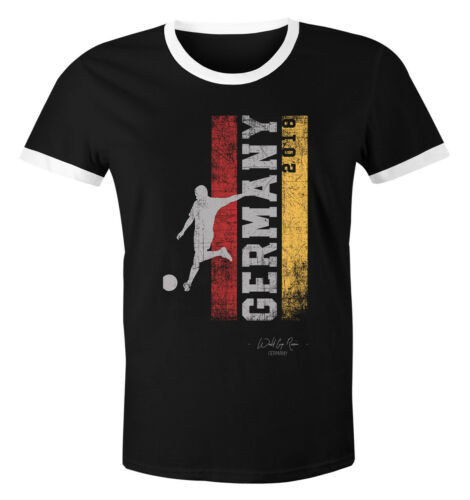 Herren WM-Shirt Vintage Flagge WM Fußball Weltmeisterschaft 2018 World Cup