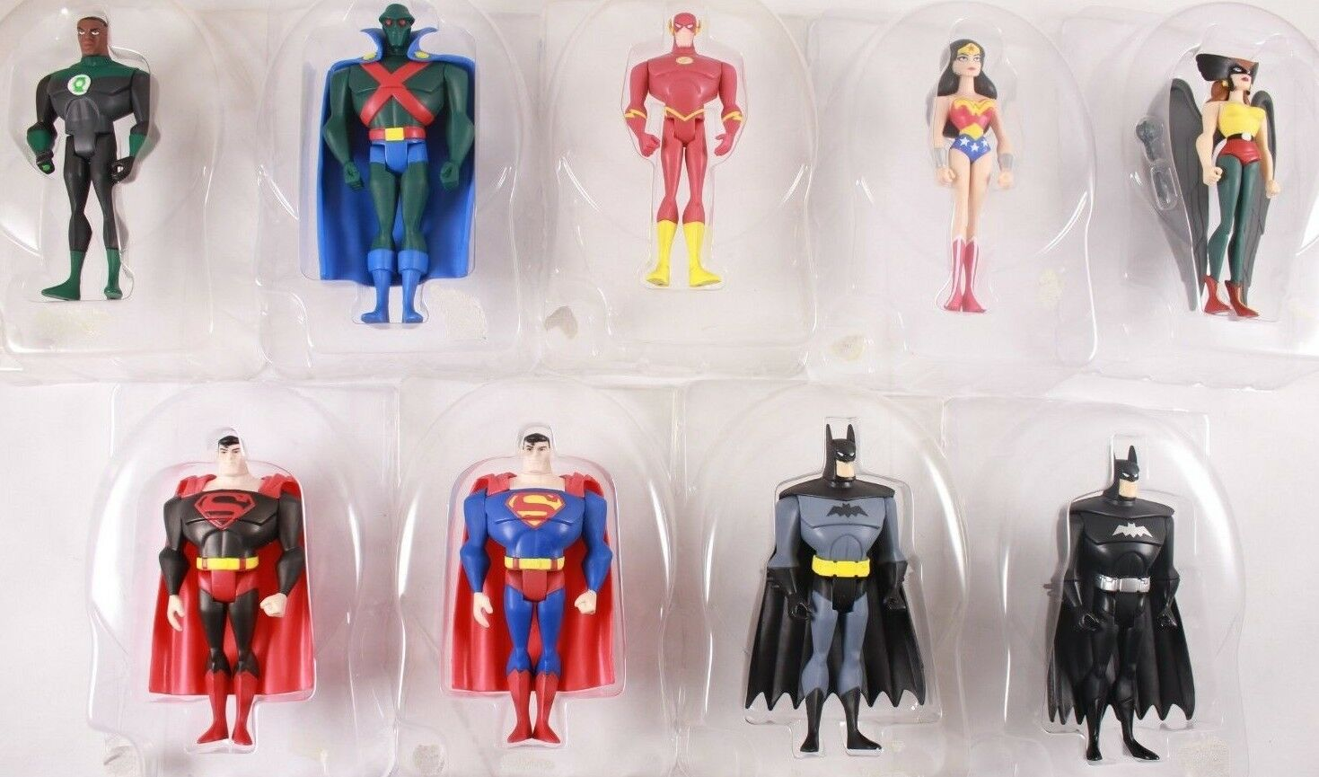 2002 Justice League Lot w  Variants & Display Bases Loose Complete Set Of 9