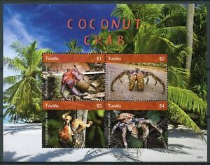 Tuvalu 2018 Neuf Sans Charnière Noix De Coco Crabe 4 V M/s Palmiers Crabes Crustacés Marins Timbres-afficher Le Titre D'origine