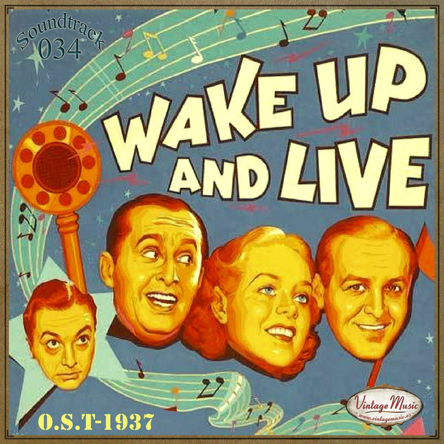 Various Artistas WAKE UP AND LIVE Soundtrack CD 34/100 - O S T Film 1937  Buddy Clark Alice Fay