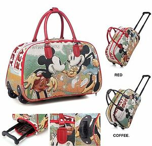 Ladies Women Minnie Mouse Luggage Travel Bags Weekend Bag Cabin ...