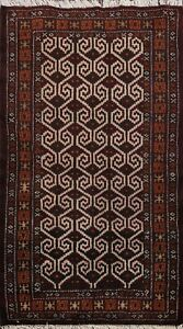 Traditional-Geometric-Bokhara-Oriental-Area-Rug-Hand-knotted-Kitchen-Carpet-2x3