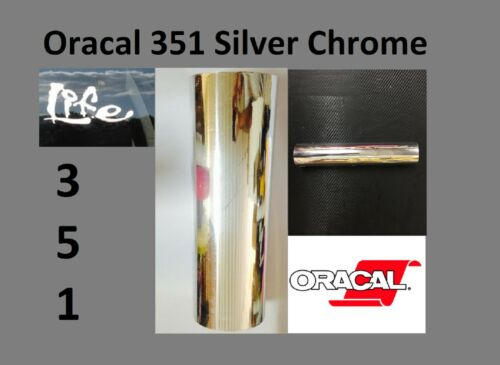 "24/"" x 50 yards Oracal 351 Silver Chrome Craft /& Hobby Cutting Vinyl Film Plotter"