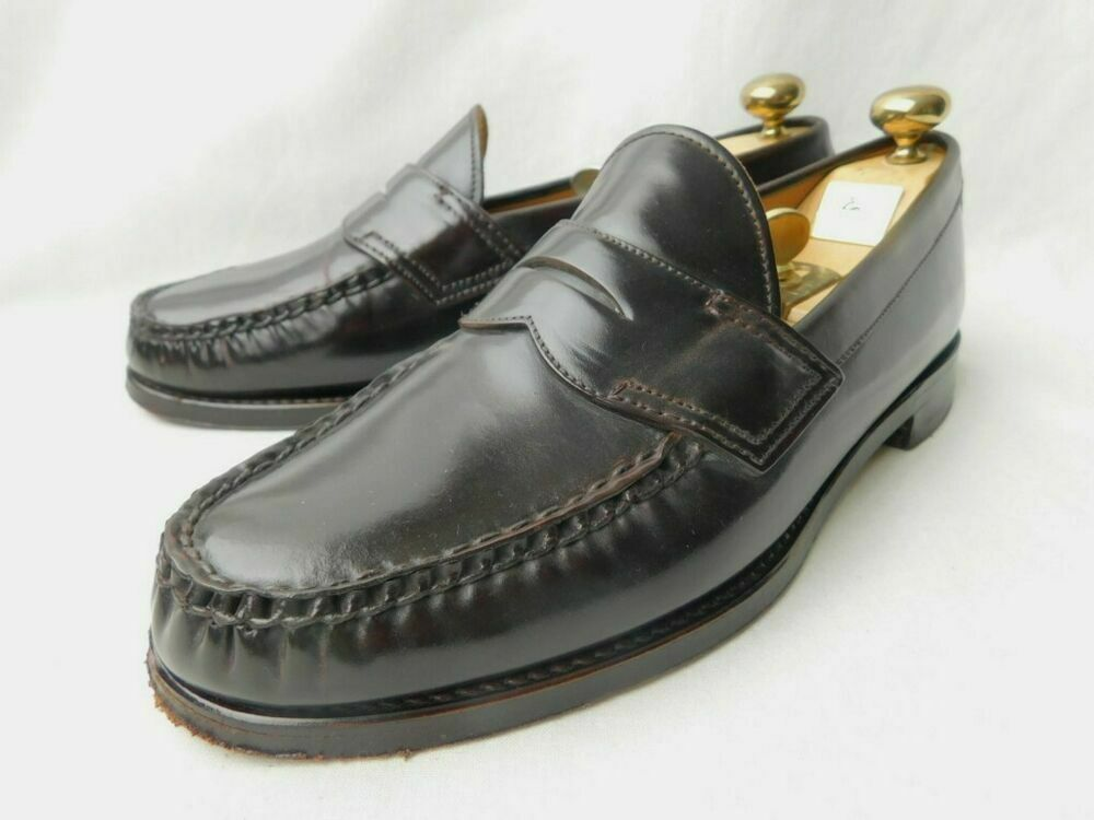 REGAL East Coast Collection Cordovan Loafers shoes Dark burgundy Size 24EE