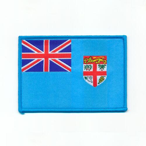 90 x 64 mm Fidschi Inseln Suva Flagge Flag Patch Aufnäher Aufbügler 0709 X