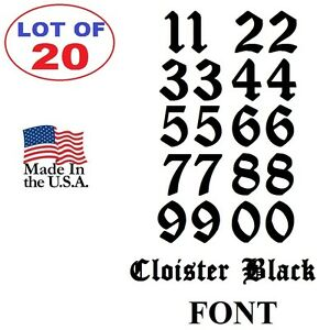 Details About Lot Of 20 White Black Vinyl Street Address Mailbox Number Decal Stickers Cloiste