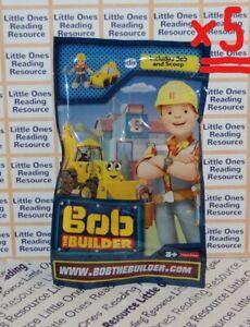 LOT-OF-5-Bob-the-Builder-Blind-Bags-Incl-Mini-Bob-amp-Mini-Scoop-Figures-SEALED