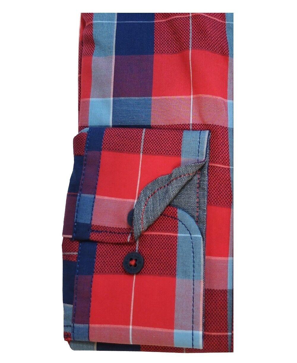 Casa Moda Freizeithemd Freizeithemd Freizeithemd Comfort Fit in rot blau aqua Ärmellänge 72 cm Gr. M - 6XL | Ausgezeichneter Wert  fc44f6