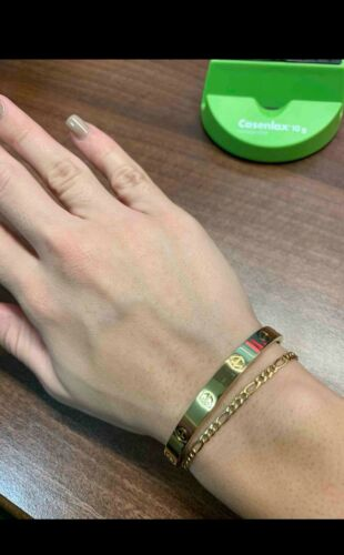 bracelet love Inoxydable Taille19 Lien Vidéo en describtion objet deja en France
