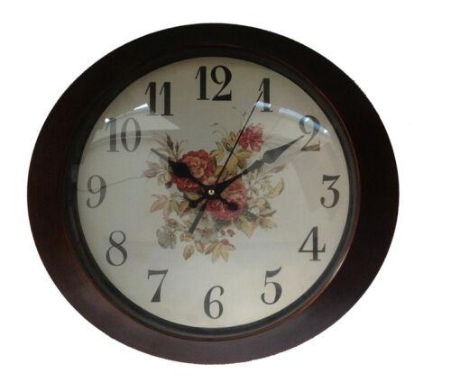 Horloge 33 Cm Ovale Or Verre Horloge De Cuisine Antique Paris Londres Nostalgie XXL
