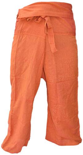 Cotone Tinta Unita Tailandese Pescatore Pantaloni Sala Larga Casual Yoga Hippie