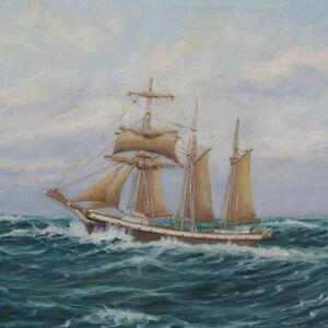 Segelschiffe auf dem meer  Hoffmann Wilhelm 1897 - 1986 MARINE SegelSCHIFF MEER Hamburg ...