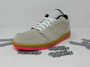 huge selection of 4ea05 aa4e2 Details about Nike Air Jordan Retro I 1 Low White Gum Yellow Hyper Pink  Beige Men's 553558-119
