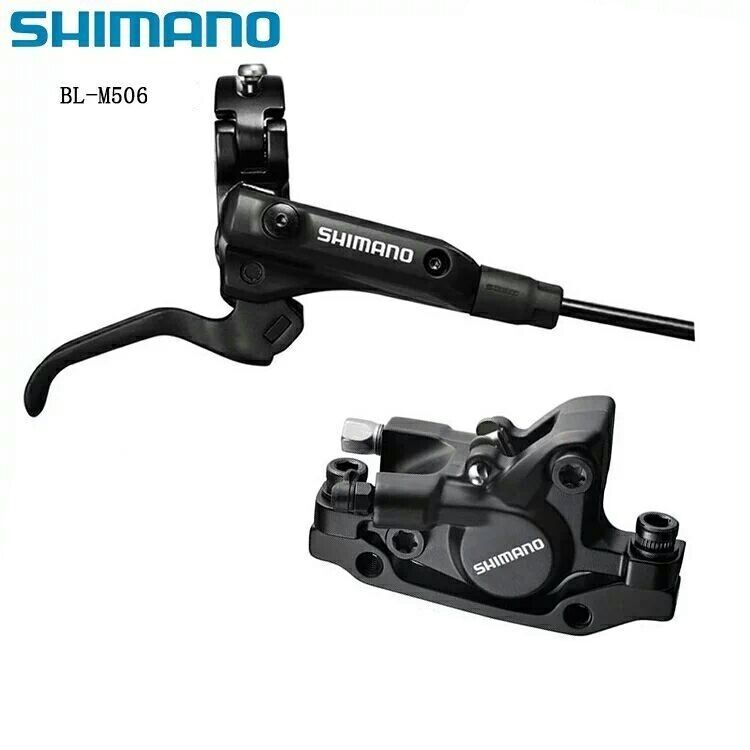 New Shimano Deore M506 M506 M506 MTB Hydraulic Disc Brake Set Front&Rear Resin Pad negro 345386