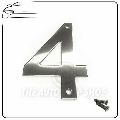 Door 6 ** Stainless Steel 10cm Tall Building House Number SCREW FITTING ** No