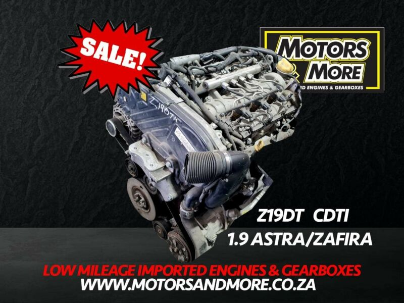 Opel Astra/Zafira Z19DTH 1.9CDTi Engine For Sale - No Trade in Needed