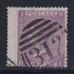Gran Bretagna 1867 MER. 30 timbrato 60% 6 pence, Regina, Victoria, i, R
