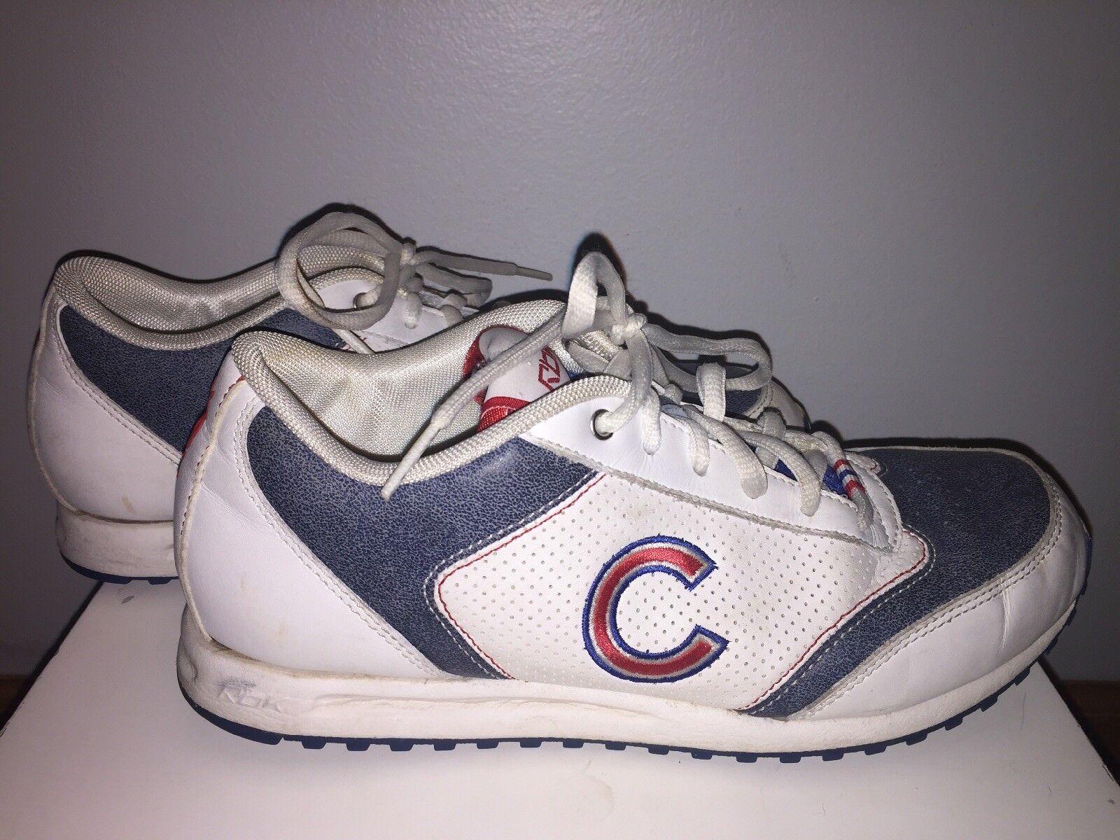 CHICAGO CUBS FAN SHOES SZ 8 Vintage REEBOK CLASSIC WHITE Authentic Collection