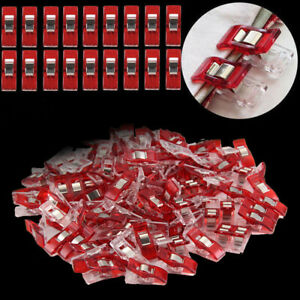 Pack-of-50-100-Wonder-Clips-For-Fabric-Quilting-Craft-Sewing-Knitting-Crochet-UK