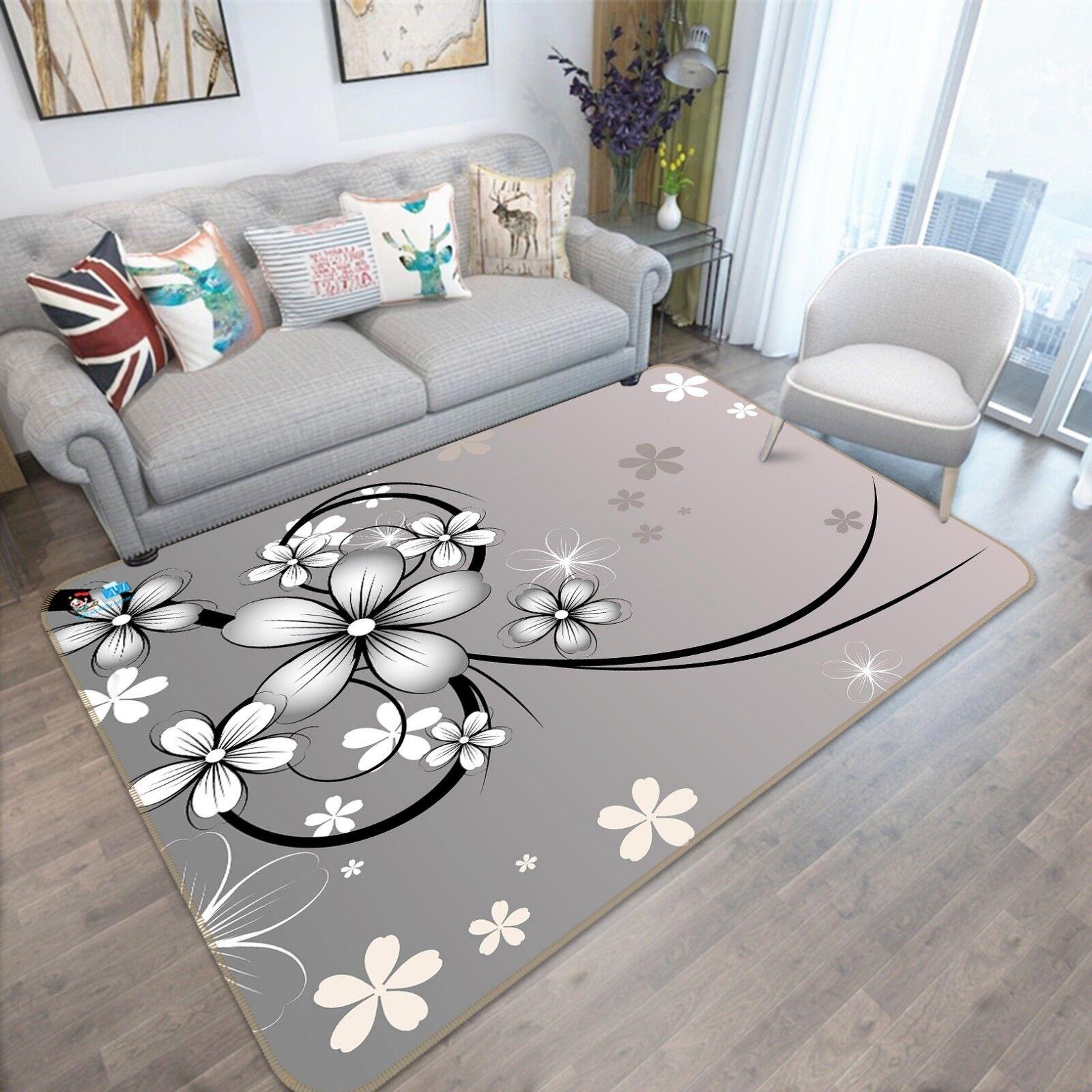 3D Fiori 143 Pavimento Antiscivolo Tappeti Elegante Tappeto IT Sunmmer
