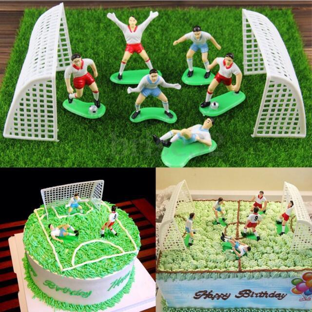 8pcs Soccer Football Cake Topper Player Decoration Tool Birthday
