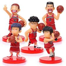 """Slam Dunk Shohoku PVC Toy  2.4"""" Figure Set Of 5 Sakuragi Rukawa Set.1"""