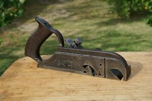 Vintage-Stanley-No-78-Rabbet-Plane-Woodworking-Tool-All-Metal-Pat-039-d-6-7-10