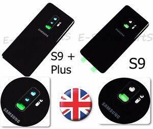 VETRO-Posteriore-Alloggiamento-Cover-Della-Batteria-di-ricambio-Porta-per-Samsung-Galaxy-S9-S9-Plus