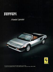 1983 Ferrari 308 GTSi Mondial Cabriolet Original Color Ad