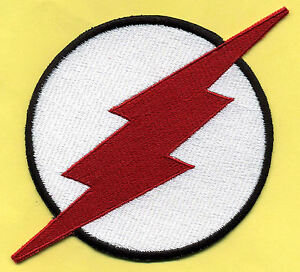 KID-FLASH-8x12-034-X-Large-Fully-Embroidered-White-amp-Red-Chest-Insignia-Patch