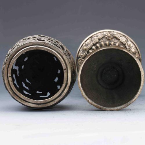 Exquisite Tibetan Silver Dragon Incense Burner
