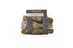 Mini 3 Pack Variety Sage Mugwort Cedar Juniper Ridge Smudge Sticks