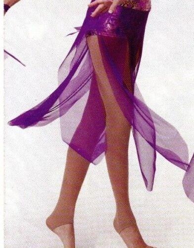 NWT Mesh Petal skirt child// ladies  sizes plum foil waistband Micro mesh lycra