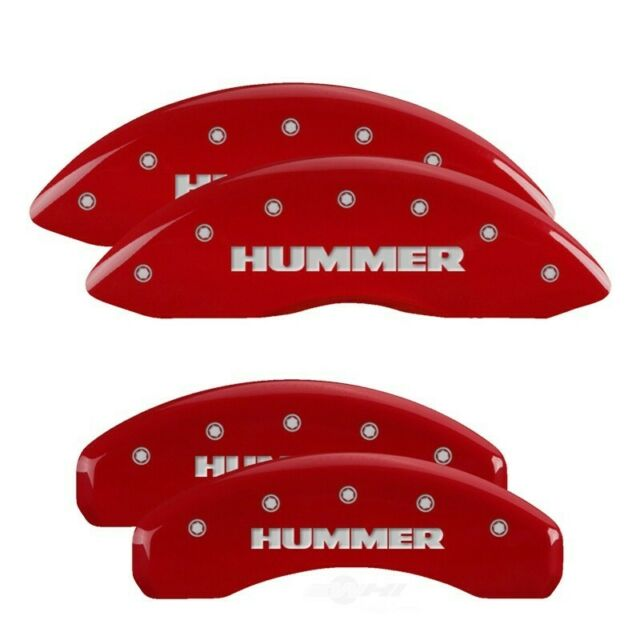 MGP Caliper Covers Front and Rear Engraving For 2003-2009 Hummer H2-Red