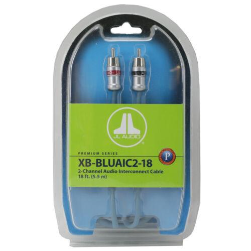 5.5m Cable Amp Wire JL AUDIO XB-BLUAIC2-18 Car Amplifier RCA 2 Channel 18ft