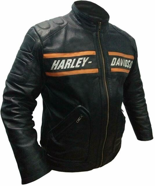 WWE Bill Goldberg Harley Davidson Biker Vintage Black Motorcycle Leather Jacket