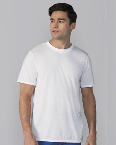 AWDis Men/'s Sub WHITE T-SHIRT 100/% Polyester Crew Neck Relaxed fit