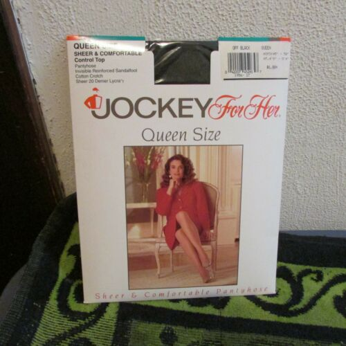Off Black. 1992 Jockey For Her Queen Size Pantyhose New