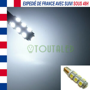 AMPOULE-LAMPE-12V-BA9S-T4W-13-LED-5050-BLANC-FROID-XENON-INTERIEUR-TUNING