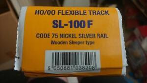 PECO-Streamline-HO-OO-Nickel-Silver-Rail-SL-100F-Flexible-Track-Box-25-pieces