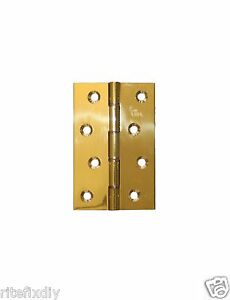 Image Is Loading Pair Solid Brass Door Hinges Carlisle Double Steel